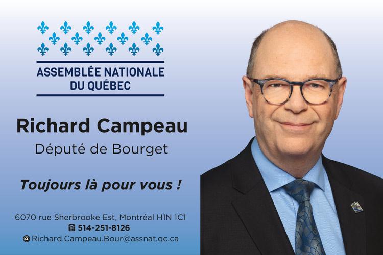 Richard Campeau, député de Bourget